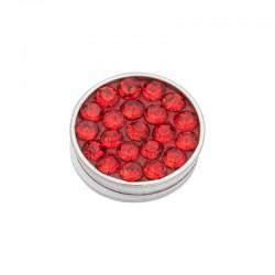 Element wymienny cyrkonie czerwone srebrny