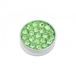 Element wymienny cyrkonie zielone srebrny