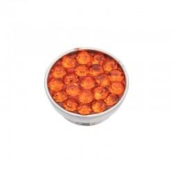 Element wymienny cyrkonie pomarańczowe srebrny