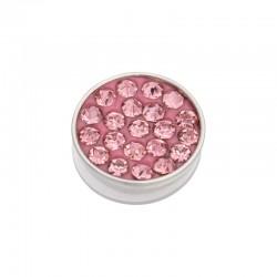 Element wymienny cyrkonie różowe srebrny