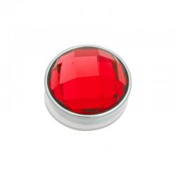 Element wymienny fasetowany czerwony srebrny