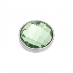 Element wymienny fasetowany zielony srebrny