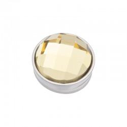 Element wymienny fasetowany żółty srebrny