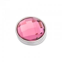 Element wymienny fasetowany różowy srebrny