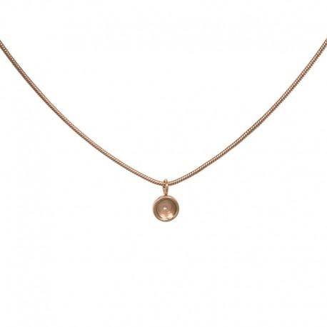 Naszyjnik baza - linka 50 cm różowe złoto