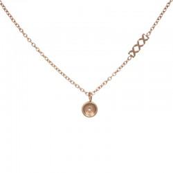 Naszyjnik baza 50 cm różowe złoto