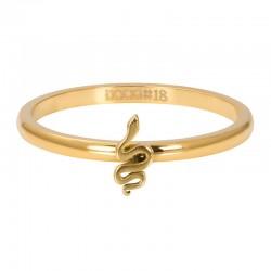 Ring symbol wąż 2 mm złoty