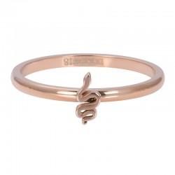 Ring symbol wąż 2 mm różowe złoto
