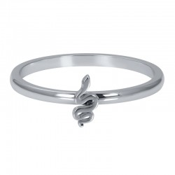 Ring symbol wąż 2 mm srebrny