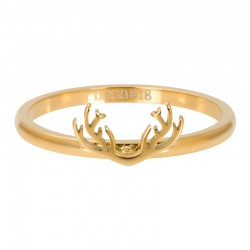 Ring symbol rogi 2 mm złoty