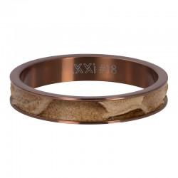 Ring krokodyl 4 mm brązowy