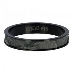 Ring słoń 4 mm czarny