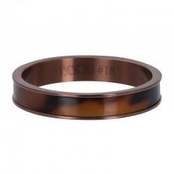 Ring tygrys 4 mm brązowy