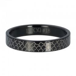 Ring czarny wąż 4 mm czarny