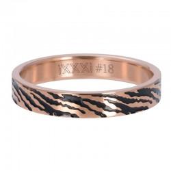 Ring zebra 4 mm różowe złoto