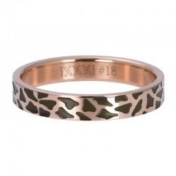Ring pantera 4 mm różowe złoto