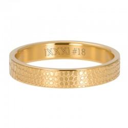 Ring żyrafa 4 mm złoty