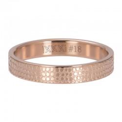 Ring żyrafa 4 mm różowe złoto