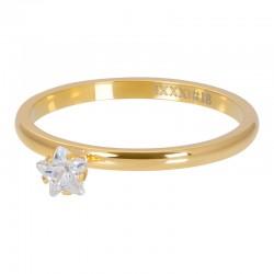 Ring kryształowa gwiazdka 2 mm złoty