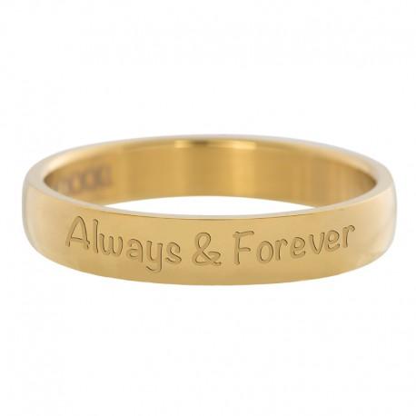Ring Always&Forever złoty