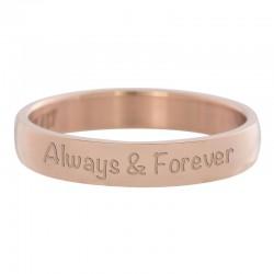 Ring Always&Forever różowe złoto