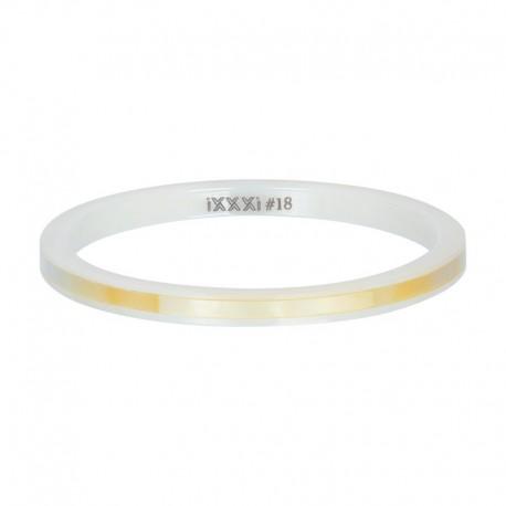 Ring ceramiczny 2 mm żółta łuska