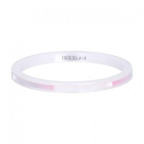 Ring ceramiczny 2 mm różowa łuska