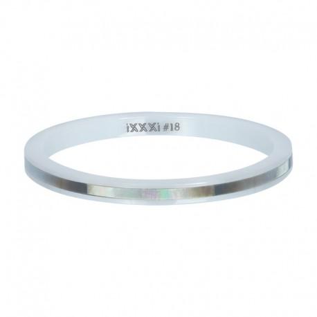 Ring ceramiczny 2 mm szara łuska
