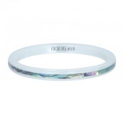 Ring ceramiczny 2 mm bursztynowa łuska
