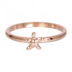 Ring symbol rozgwiazda 2 mm różowe złoto