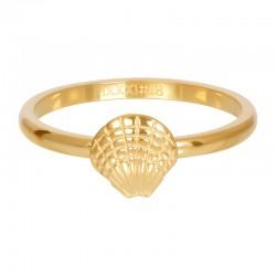 Ring symbol muszelka 2 mm złoty
