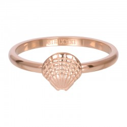 Ring symbol muszelka 2 mm różowe złoto