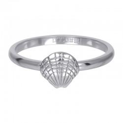 Ring symbol muszelka 2 mm srebrny