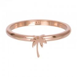 Ring symbol palma 2 mm różowe złoto