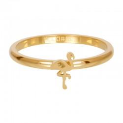 Ring symbol flaming 2 mm złoty