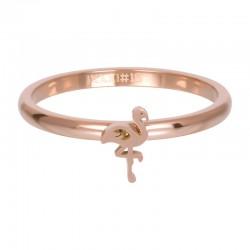 Ring symbol flaming 2 mm różowe złoto