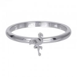 Ring symbol flaminga 2 mm srebrny