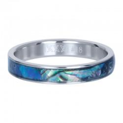 Ring granatowa masa perłowa 4 mm srebrny