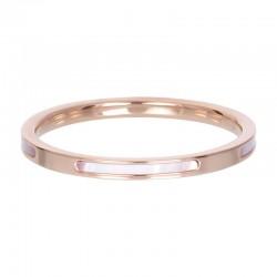 Ring bonaire 2 mm różowe złoto