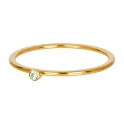 Cyrkonia 1 mm kryształ zielony złoty