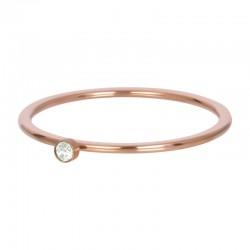 Cyrkonia 1 mm kryształ zielony różowe złoto
