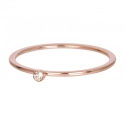 Cyrkonia 1 mm kryształ piaskowy różowe złoto
