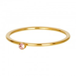 Cyrkonia 1 mm kryształ różowy złoty