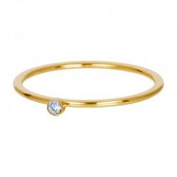 Cyrkonia 1 mm kryształ błękitny złoty