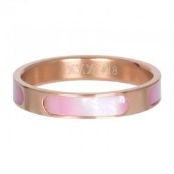 Ring aruba 4 mm różowe złoto