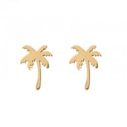 Kolczyki palmy złote