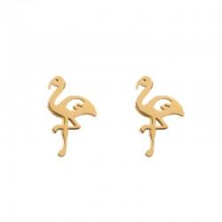 Kolczyki flamingi złote