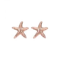Kolczyki rozgwiazdy różowe złoto