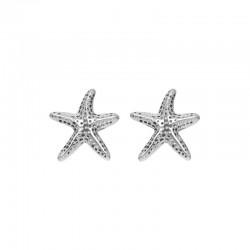 Kolczyki rozgwiazdy srebrne