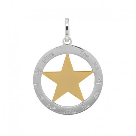 Zawieszka duża gwiazda srebrno-złota